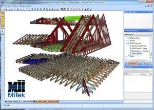 Mediniu konstrukciju 3D projektavimas Inovatyvi statyba www.santvaros.lt
