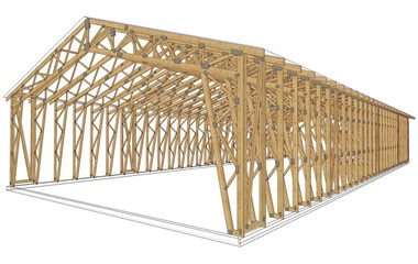Mediniu konstrukciju pastatai Inovatyvi statyba www.santvaros.lt