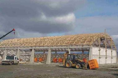 Inovatyvi statyba Projektai MiTek mediniu konstrukciju zemes ukio pastatai