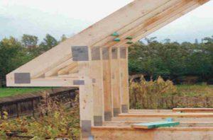 Mansardinio stogo santvarų sujungimai mitek plokštelėmis-santvaros.lt