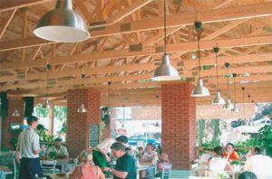 kavinė su medinių santvarų stogu-projektai-santvaros.lt