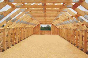 mansardinis stogas sandėliavimo pastatui-projektai-santvaros.lt