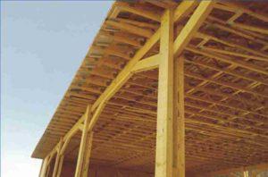 medinė žemės ūkio paskirties stoginė-projektai-santvaros.lt