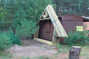 medinės gyvenamojo namo santvaros prieš montavimą-projektai-santvaros.lt