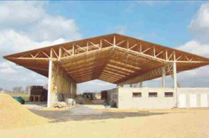 medinių santvarų stogas sandėliui santvaros.lt