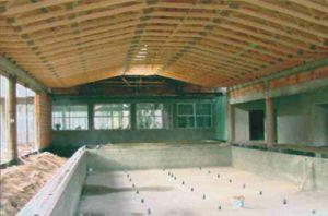 visuomeninis baseinas su medinių santvarų stogo konstrukcija-projektai-santvaros.lt