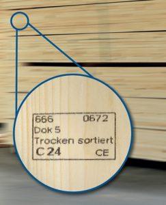 Konstrukcines medienos zenklinimas CE zenklu Inovatyvi statyba santvaros
